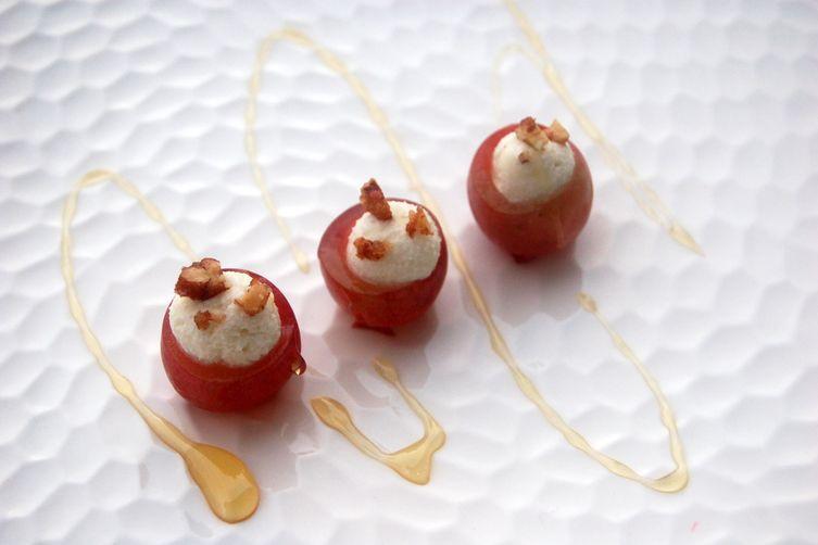 Honey & Goat Cheese Stuffed Grapes