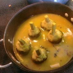 Braised artichokes with orange and lemongrass