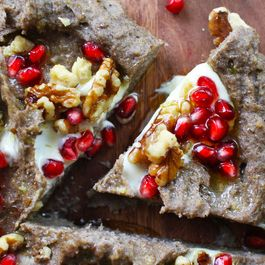 Buckwheat Polenta with Walnuts, Pomegranate + Mascarpone