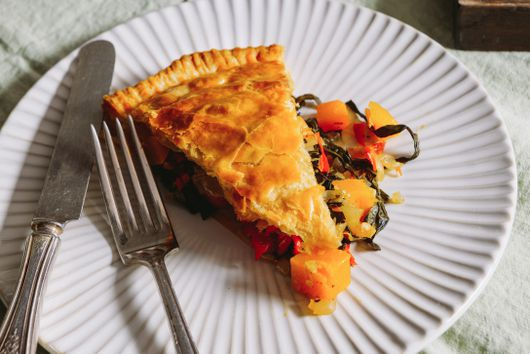 Sweet & Spicy Kale & Squash Pithivier