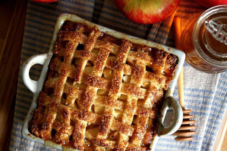 Honey Bourbon Apple Pie