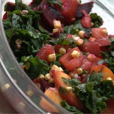 late summer massaged kale salad
