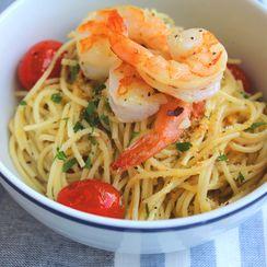 Spaghetti with Lemon, Shrimp, and Bread Crumbs