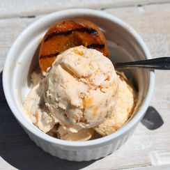 Grilled Apricot Ice Cream