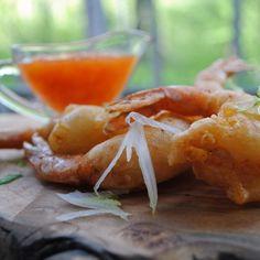 Camarón Rebosada with Mango Pineapple Sauce