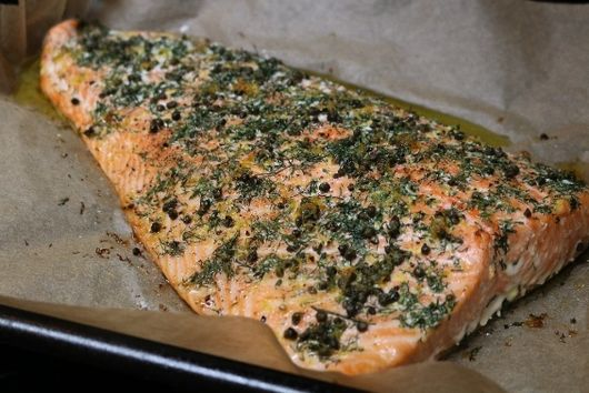 Slow-Roasted Salmon with Capers, Dill and Lemon