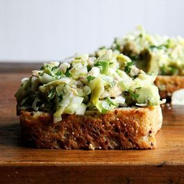 Dinner Tonight: Smoked Trout and Avocado Salad Toasts