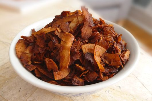 Crispy Vegan Coconut Bacon