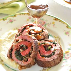 Beef Roulade with Celeriac Puree