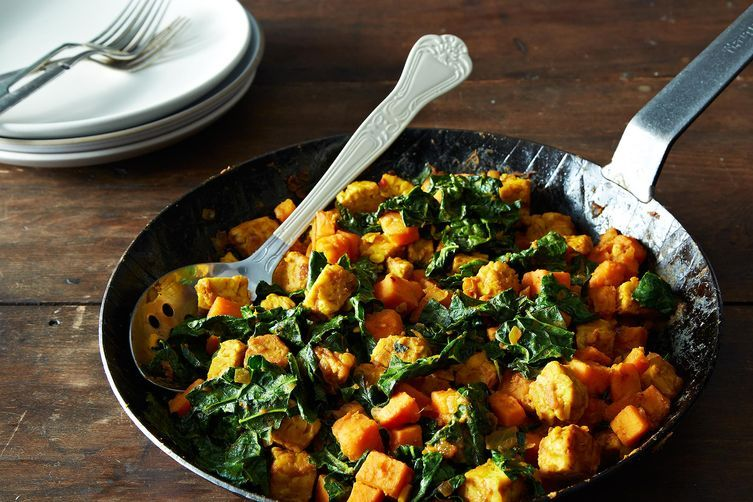 Sweet Potato and Tempeh Hash