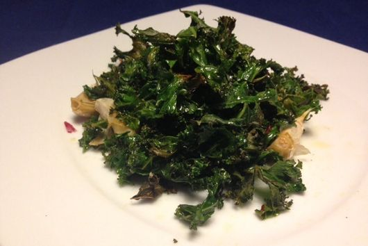 Perfectly Wilted Kale Chips
