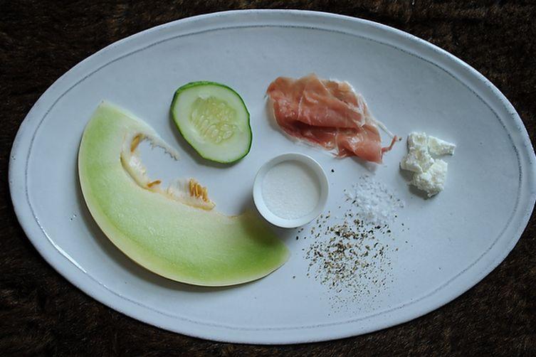 Quick-Pickled Cucumber-Melon Salad