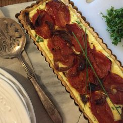 Roasted Tomato And Herbed Ricotta Tart