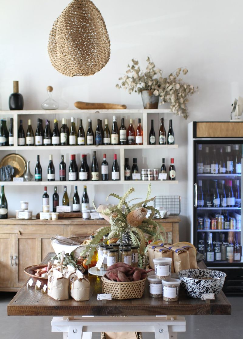 Plenty of (natural) wines and provisions greet you.