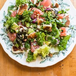 Halloumi and Grapefruit Salad