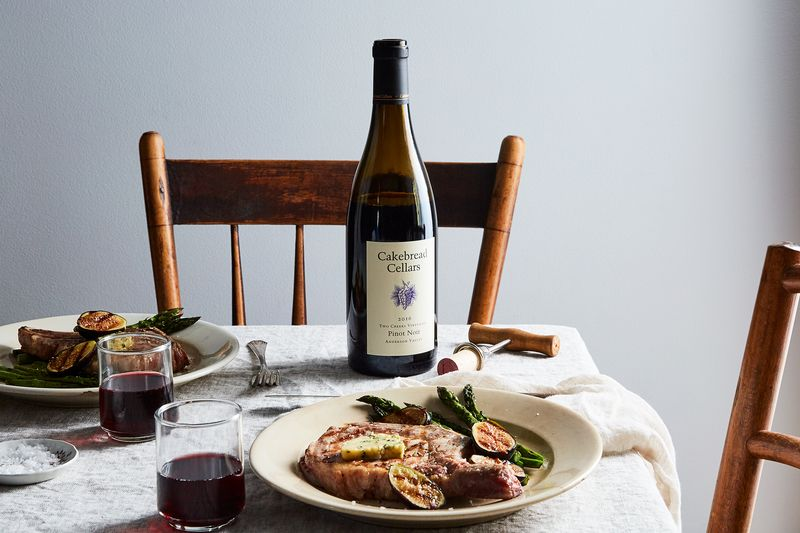 Juicy pork, jammy figs, char from the grill...and a Pinot Noir to tie it all together.