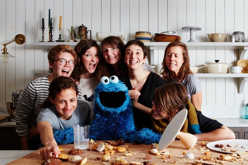 Ok, cookie monster *isn't* one of our test kitchen chefs. But wouldn't that be cool if he was?!