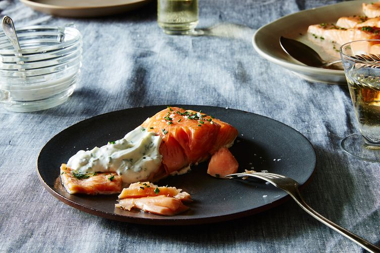 Sally schneider 39 s slow roasted salmon or other fish for Broil fish in oven