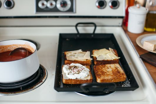 For A Grown Up Grilled Cheese, Add Labneh