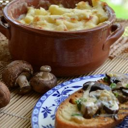 Creamed Morel Mushrooms On Grilled Ciabatta