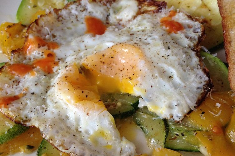 Zucchini and Pear Tomato Breakfast