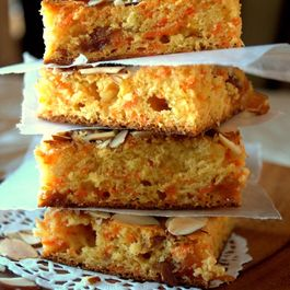 Carrot Halwa Blondie bars