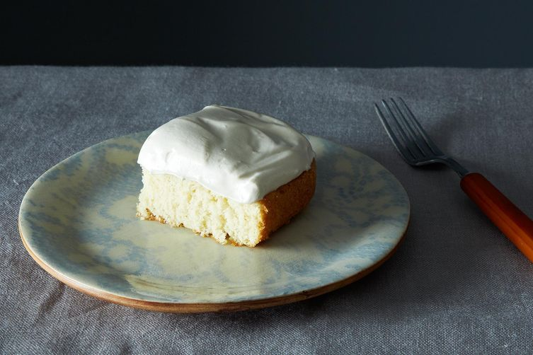 Egg White Cake Icing Recipes: Grandma's White Cake With Maple Syrup Frosting Recipe On