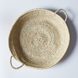 Handmade Shallow Moroccan Basket