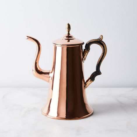 Vintage Copper English Elegant Coffee Pot, Late 19th Century