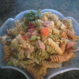 Pasta Salad with Ham, and Cheese