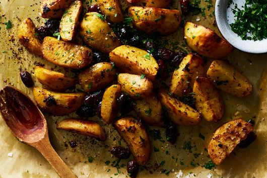 Lemon-Roasted Potatoes with Kalamatas