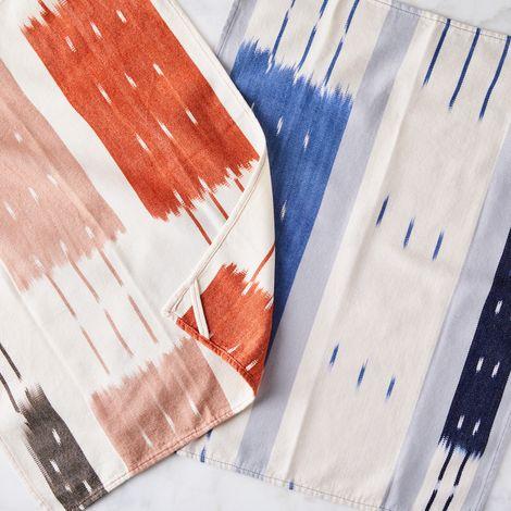 Handwoven Ikat Kitchen Towel