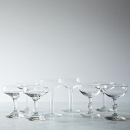 Vintage Champagne Coupes (Set of 2)