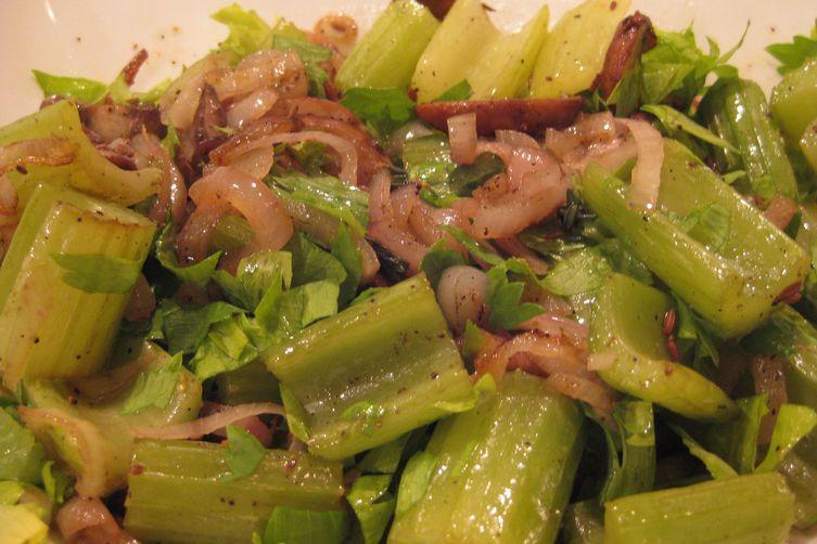 Jennie's Roasted Celery And Mushrooms