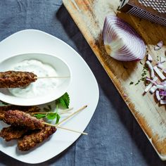 beef kofta with tzatziki
