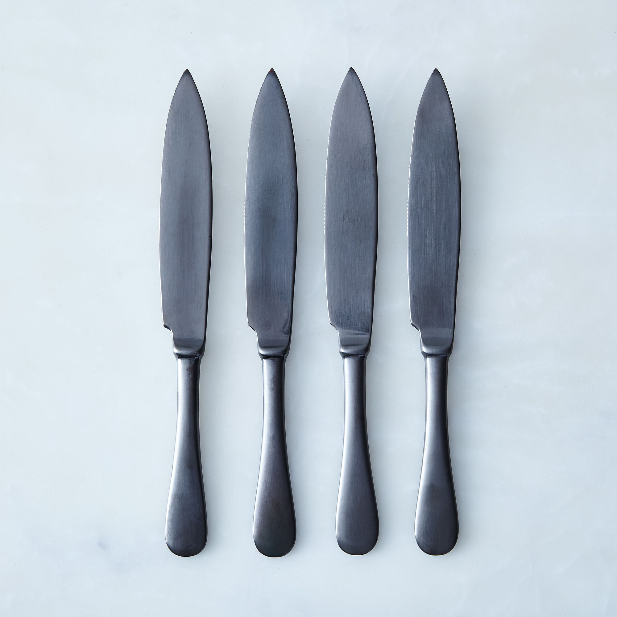 Italian Steak Knives (set Of 4) Black Brushed