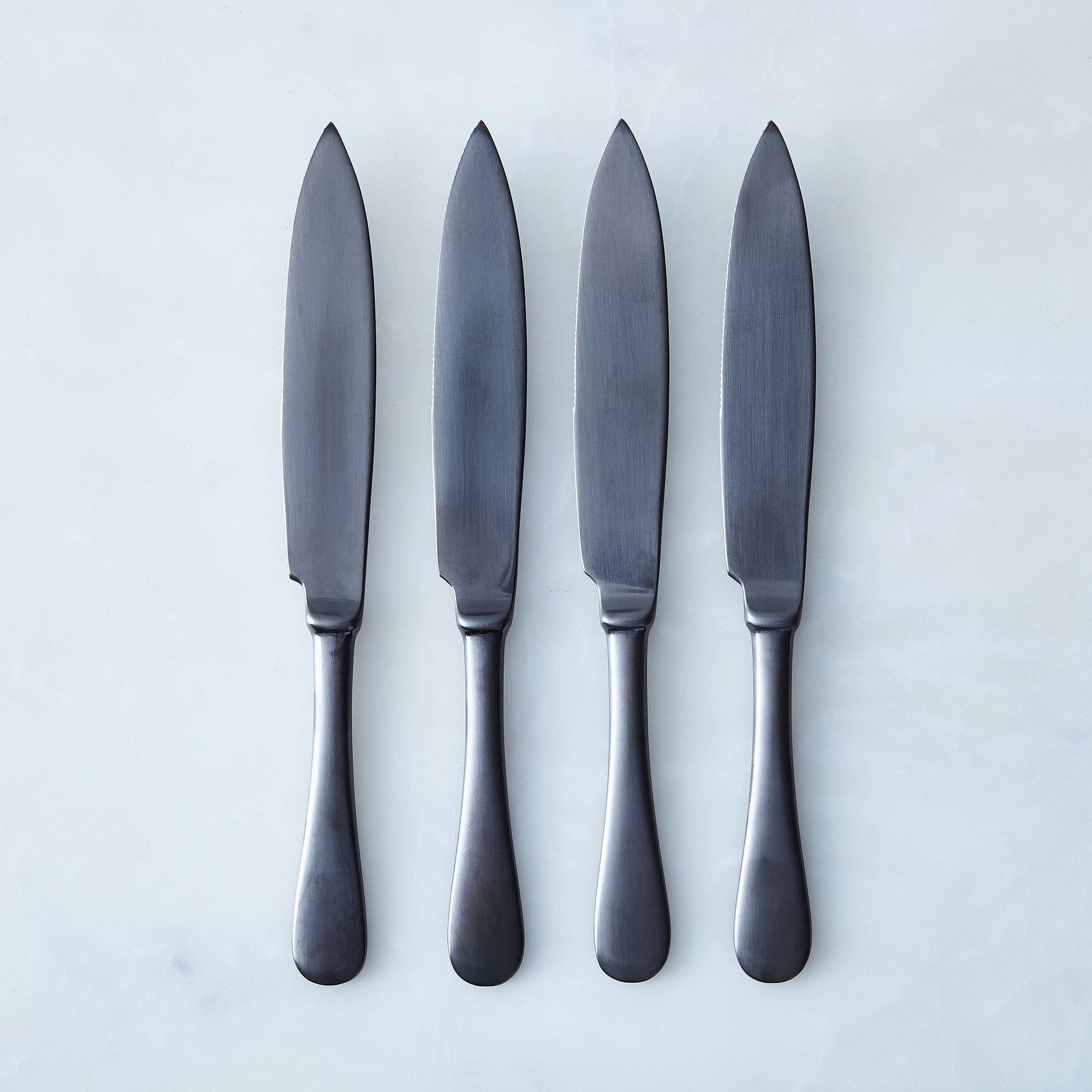 7a7dd151 0877 4c22 8f25 bd652caafb9a  2017 0511 mepra steak knives set of 4 black brushed detail silo rocky luten 002