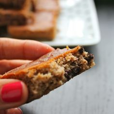 White Bean Chocolate Chip and Peanut Butter Bars