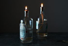 A Centuries-Old Way to Turn Booze Bottles into Mood Lighting