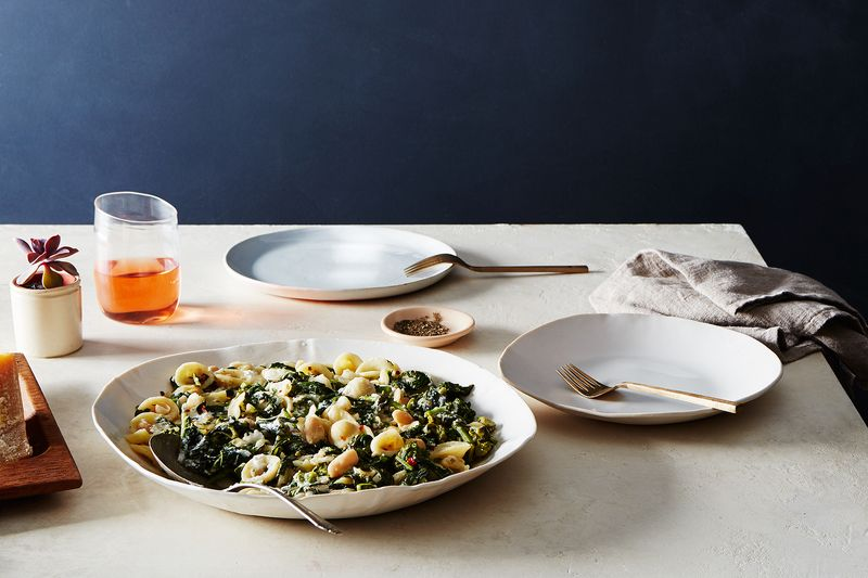 Pasta with Broccoli Rabe and White Bean-Anchovy Sauce