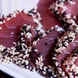Sashimi Sesame Tuna with Asian Dipping Sauce