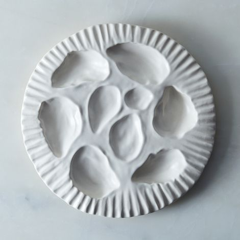 Porcelain Oyster Plate