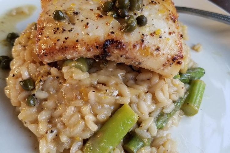 Lemon Aspargus Risotto