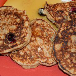 Whole-wheat Lemon-Blueberry-Ricotta pancakes
