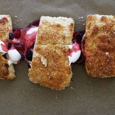 Biscuits with Summer Berries and Whipped Cream