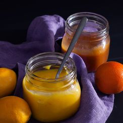 Winter Citrus Custards: Blood Orange Curd + Meyer Lemon Curd