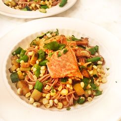 Marinated Salmon with Easy Stir Fry