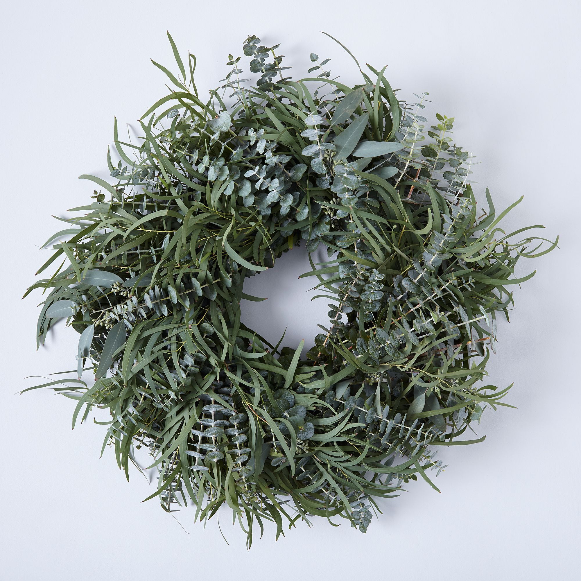 Fresh Mixed Eucalyptus Wreath