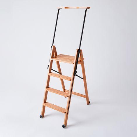 Slim Wooden Ladder, 4 Step