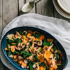 Miso-Marinated Salmon with Lentils and Broccolini